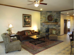 #3 - Living room with fireplace